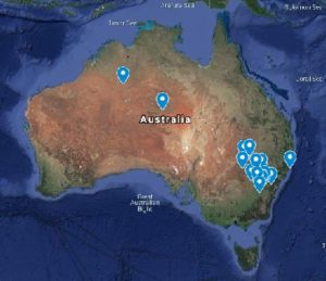 Rain Songs rain dance Australia Map